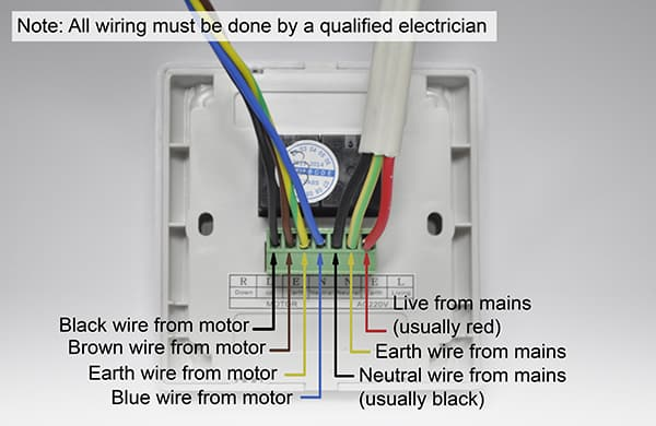Info For Electricians To Wire Up