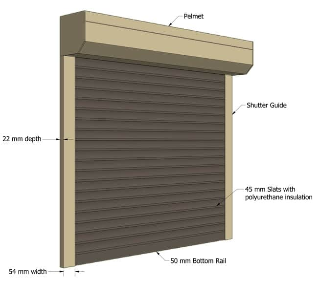 Roller shutter dimensions all sizes to fit your shutters How to measure for window shutters exterior